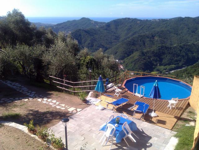 Appartement de vacances San Colombano Certenoli Jardin