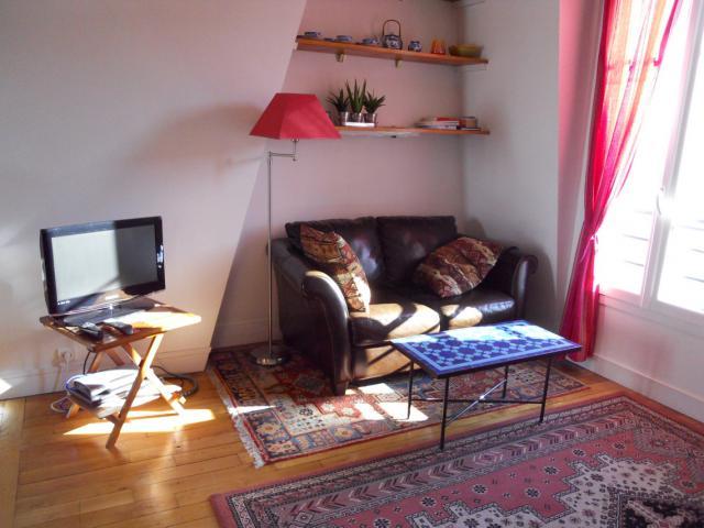 Ferienwohnung Paris Wohnzimmer