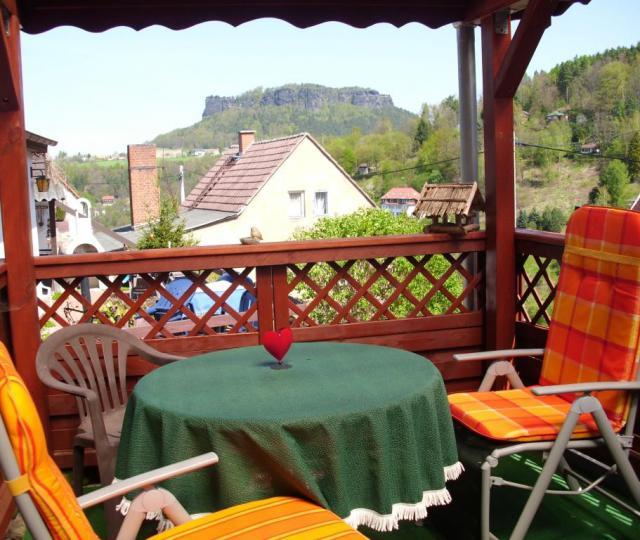 Ferienhaus Königstein Wohnzimmer