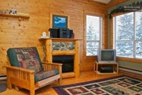 Cozy log cabin apartment