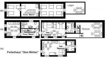 Haus O, 3 Fewos f. 16 Personen